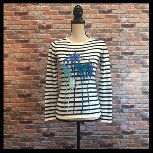 Anthro. Banjo & Matilda Palm Tree Cashmere Sweater